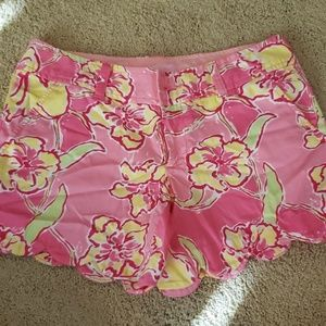 Lilly Pulitzer Scalloped Shorts Never Worn